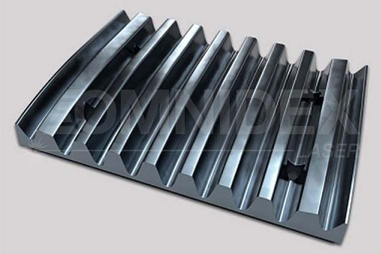 Crusher-jaw-plate_with casting manufacturing processes_Omnidex Laser Scotland